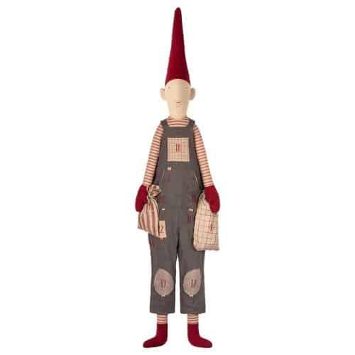Maileg Adventskalender Wichtel Boy Pixi mit Zipfelmütze 126 cm