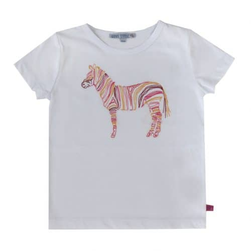 Enfant Terrible Kurzarm-Shirt mit Zebra