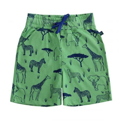 Enfant Terrible Shorts mit Safari Druck in green-navy