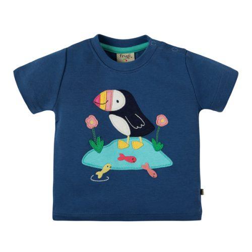 Frugi Kurzarm-Shirt mit Papageientaucher