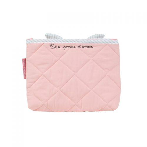 Little Crevette Kulturtasche Apfelbäckchen in rosa