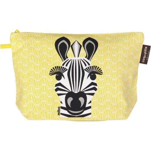 Coq en Pâte® Kulturbeutel gross Zebra in gelb