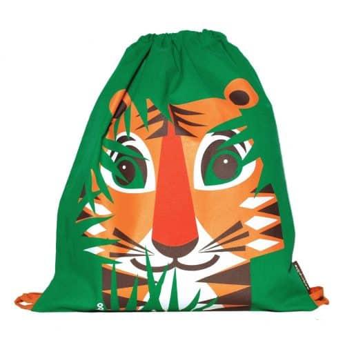 Coq en Pâte® Rucksack-Turnbeutel Tiger in grün