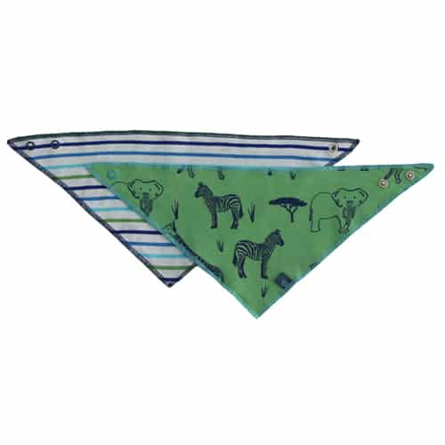 Enfant Terrible Halstuch Safari & Streifen in green-navy