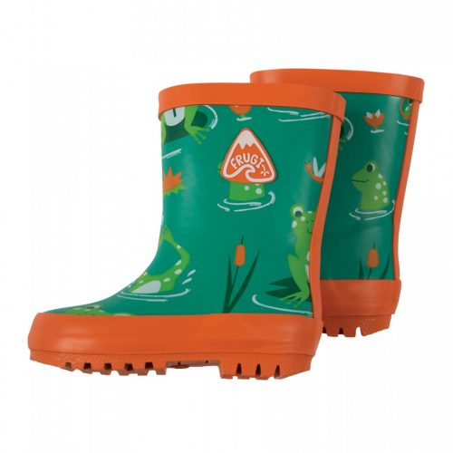 Frugi Gummistiefel Frösche in grün-orange