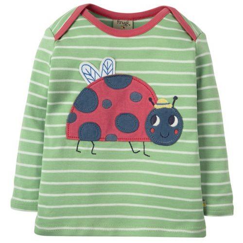 Frugi Langarm-Shirt mit Käfer in grün