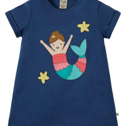 Frugi Kurzarm-Shirt Meerjungfrau in blau