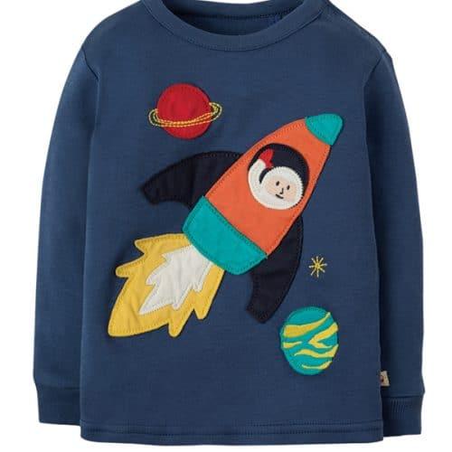 Frugi Schlafanzug Rakete in blau