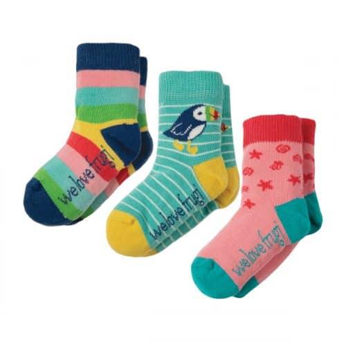 Frugi 3 Paar Socken Regenbogen