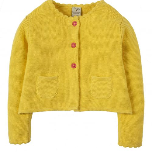 Frugi Strickjacke Milly Swing in gelb