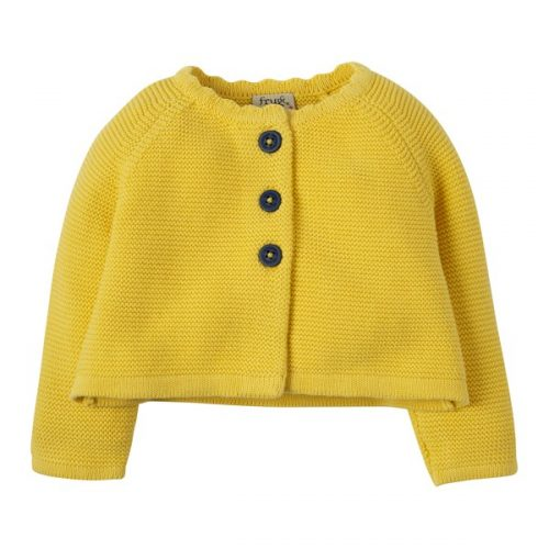 Frugi Strickjacke Carrie in gelb