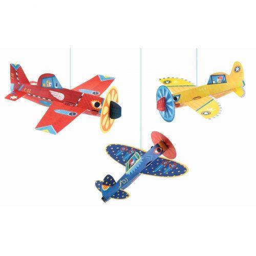 Djeco Dekoration: Mobile Flugzeuge
