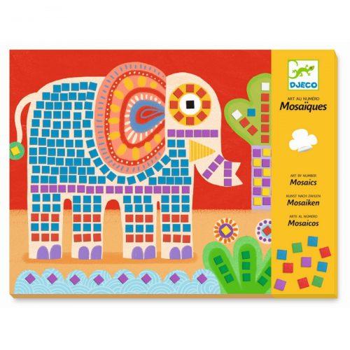 Djeco Mosaik stickern Elefant und Schnecke
