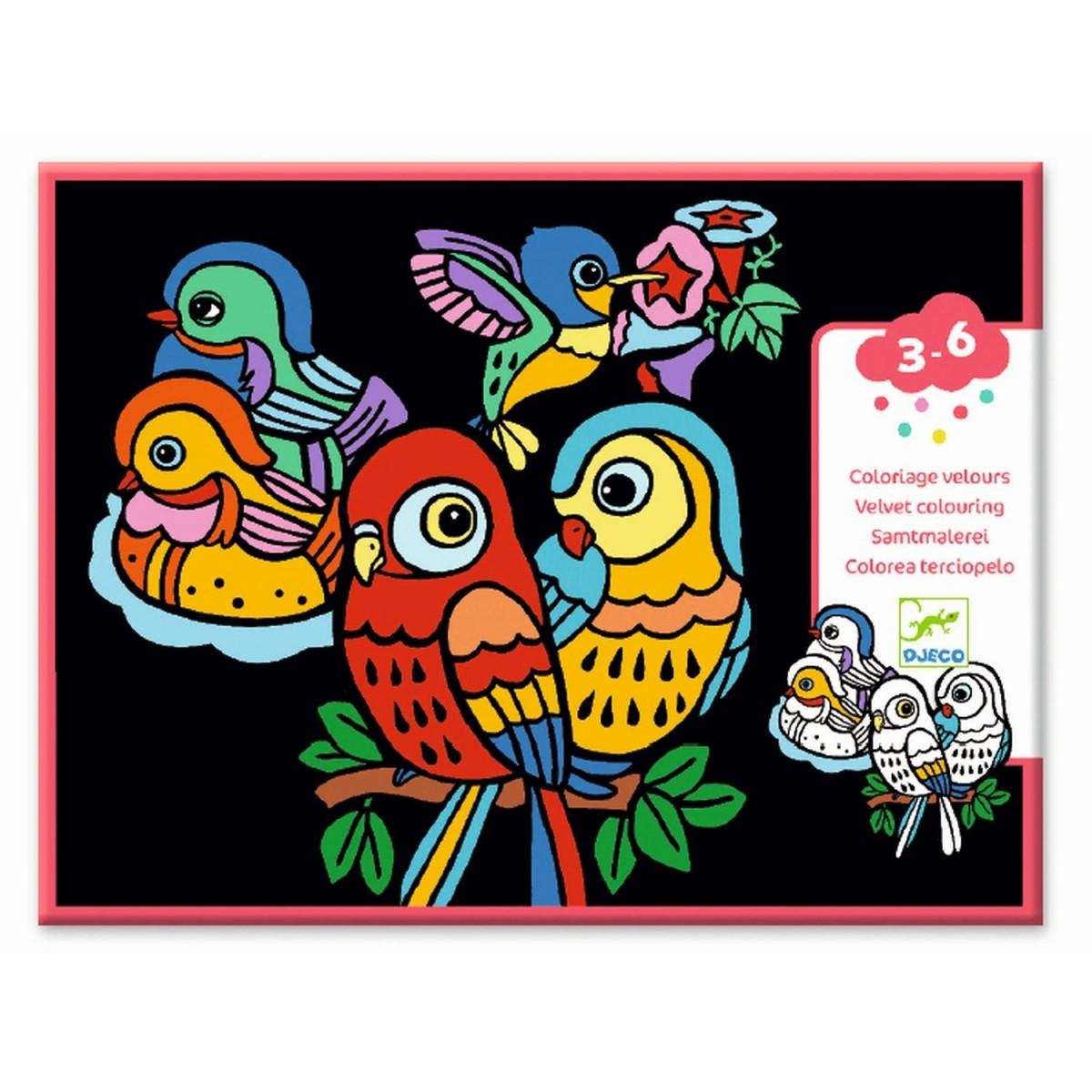 Djeco Malvorlagen Samtbilder Vögel