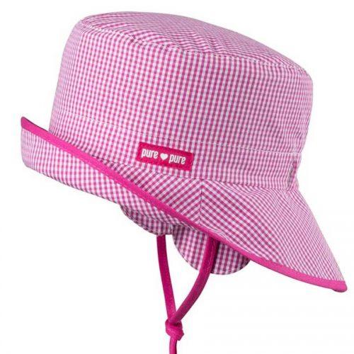 pure-pure Babymütze Fischerhut pink