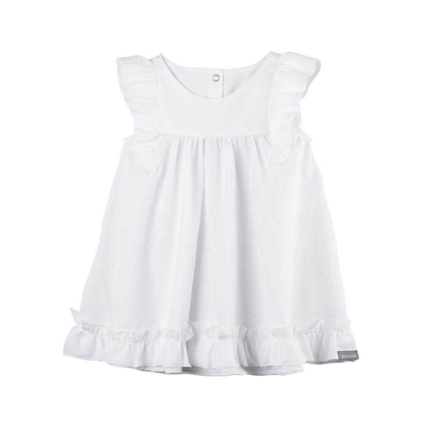 Sommerkleid in weiss mit UV-Schutz aus 100% Biobaumwolle