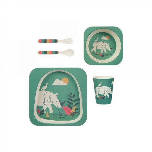 Bambus Dinner-Set Nashorn