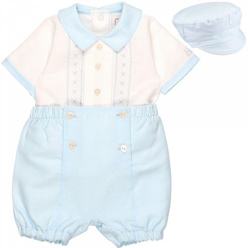 Outfit Pascal in weiss-blau mit passender Bakermütze