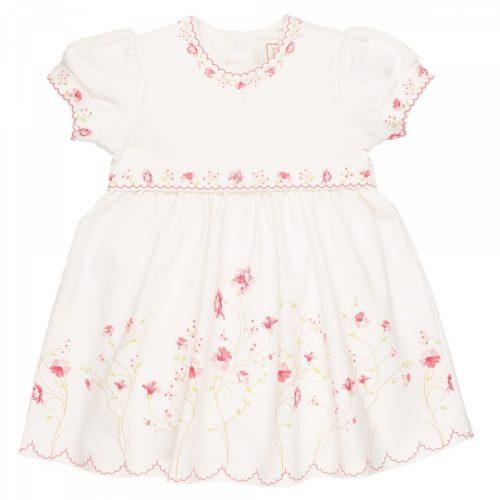 Sommerkleid Poppy in weiss-rosa mit Blumendruck