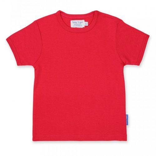 Kurzarm-Shirt uni rot
