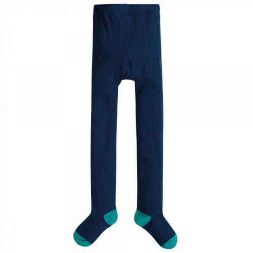 Frugi Strumpfhose blau aus Bio Baumwolle und Elastan