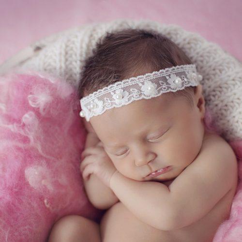 Cute Elastisches Haarband aus Spitze mit Perlen