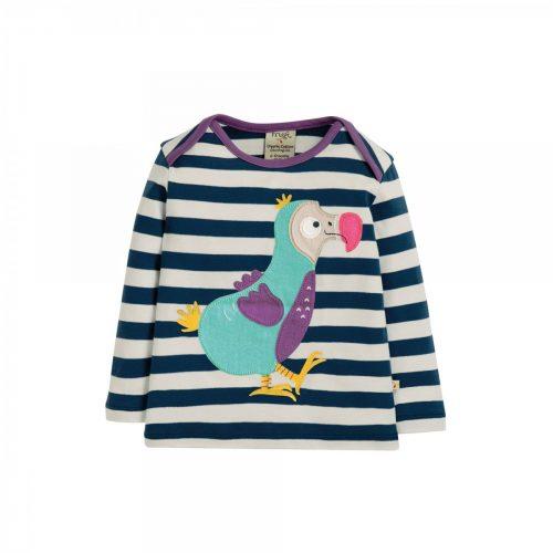 Frugi Langarm-Shirt Dodo mit Applikation auf der Vorderseite