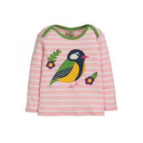 Frugi Langarm-Shirt Birdy mit Applikation auf der Vorderseite