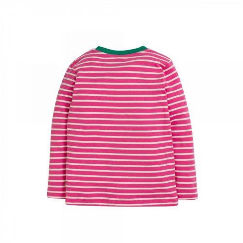 Frugi Langarm-Shirt Panda in pink-weiss - Fair und nachhaltig