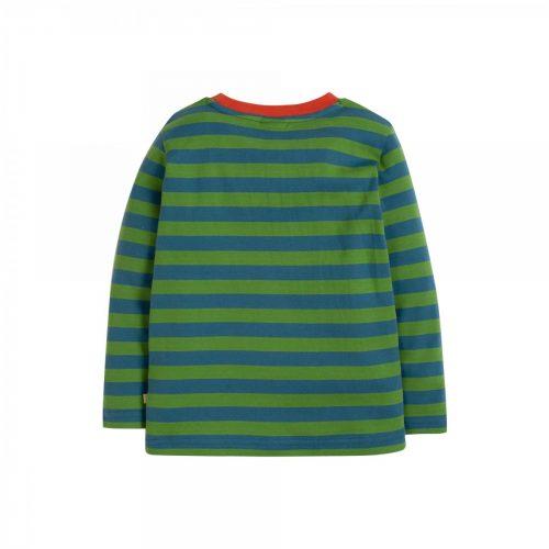 Frugi Langarm-Shirt Pandabär grün-blau - Fair und nachhaltig