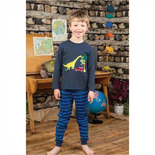 Frugi Schlafanzug Dinosaurier in blau