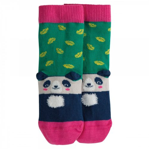 Frugi Socken Panda in jade