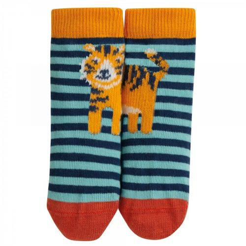 Frugi Socken Tiger im Streifen-Design aus 100% Bio-Baumwolle