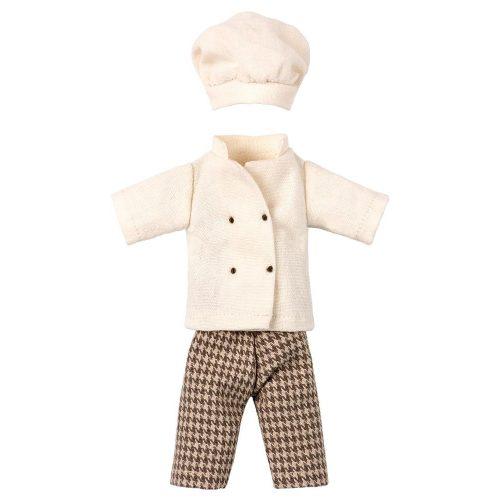 Klassisches Chefkoch-Outfit für Papi Maus.