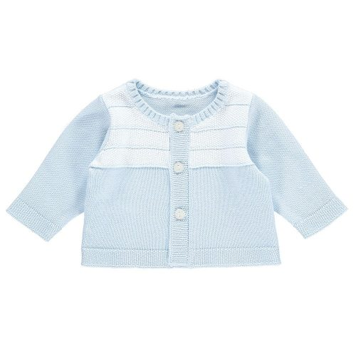 Cardigan Luke in blau-weiss