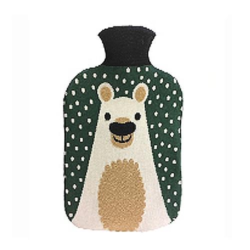 Collégien Wärmflasche mit Bären-Motiv-Bezug in grün