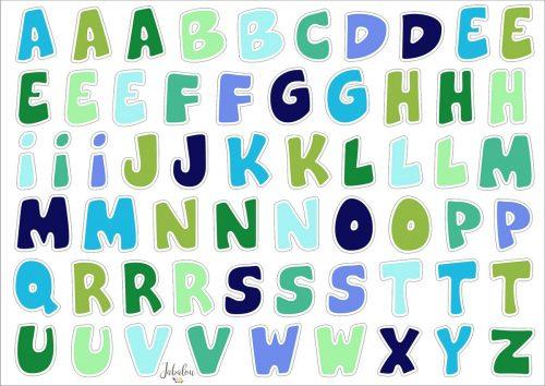 Jabalou Sticker Alphabet Boy transparent und wasserfest, DIN A5