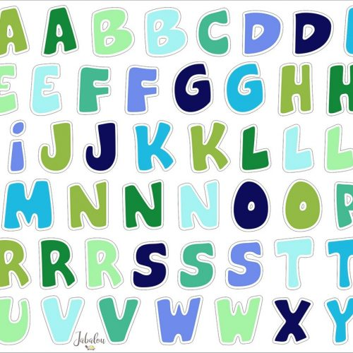 Jabalou Sticker Alphabet Boy transparent und wasserfest, DIN A5