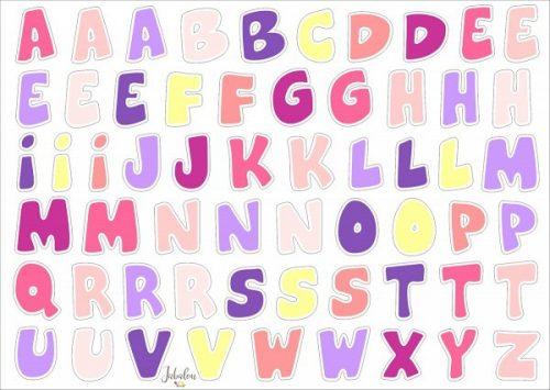 Jabalou Sticker Alphabet Girl