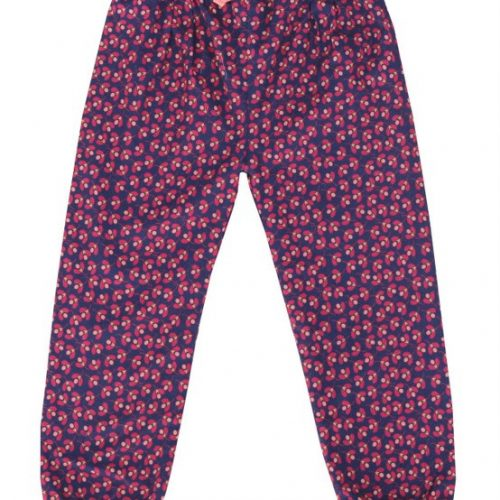 Enfant Terrible Hose Small Flowers in wine-dark blue