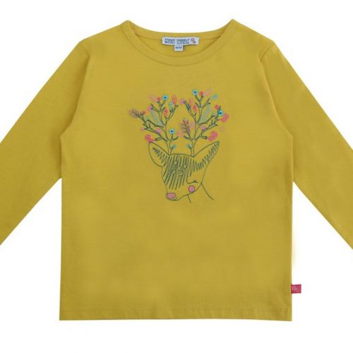 Enfant Terrible Langarm-Shirt Hirsch in curry