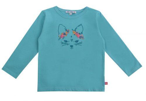 Enfant Terrible Langarm-Shirt Fuchs in cyan - Stickerei