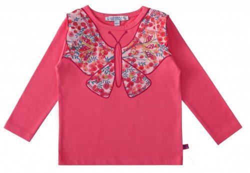 Enfant Terrible Langarm-Shirt Schmetterling in pink
