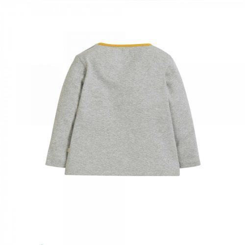 Frugi Langarm-Shirt Regenbogen in grau TTA904GMW