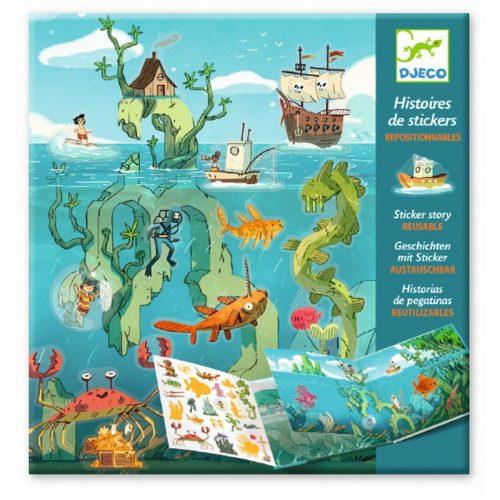 Djeco Meeresabenteuer - Geschichten stickern