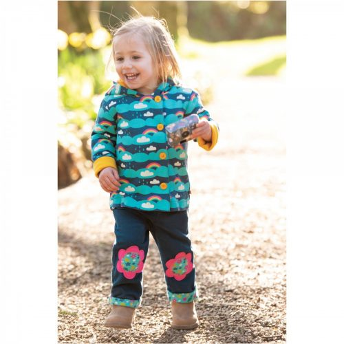 Frugi Cordhose Flower in blau