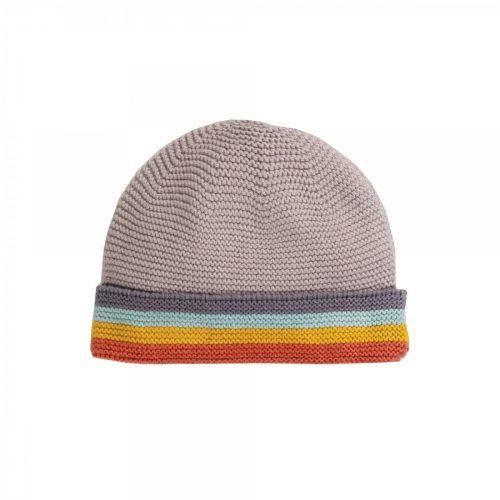 Frugi Mütze Harlow aus 100% Bio Baumwolle mit Regenbogen-Design