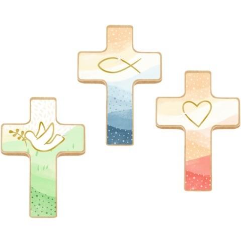 coppenrath verlag Holzkreuz auf Büchlein: Du bist geborgen in Gottes Hand