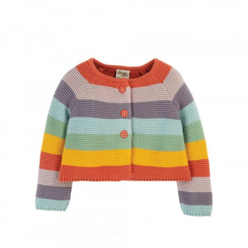 Frugi Strickjacke Rainbow
