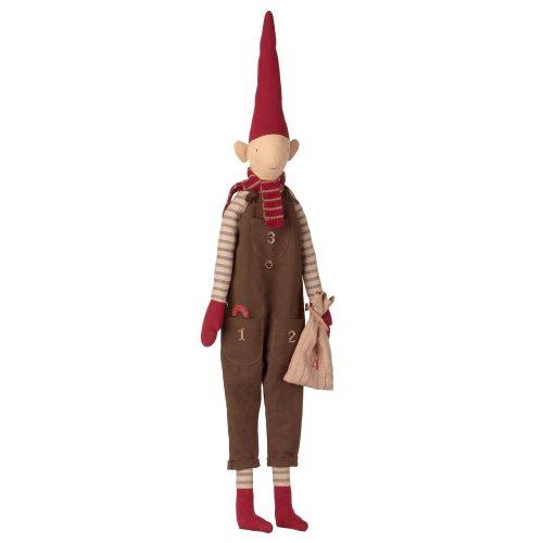 Maileg Adventskalender Wichtel Boy Pixi mit Zipfelmütze 110 cm